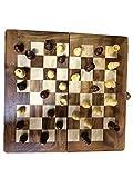 Regalo de la acción de gracias para sus seres queridos Juego de ajedrez - Sheesham mano de madera Conjunto Internacional de Ajedrez, Tablero de ajedrez de madera decorativa