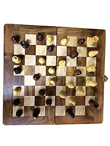 Gift to Father on Father's Day Occasion Chess Set - Sisam Wooden Handmade International Chess Set 8X8 inch