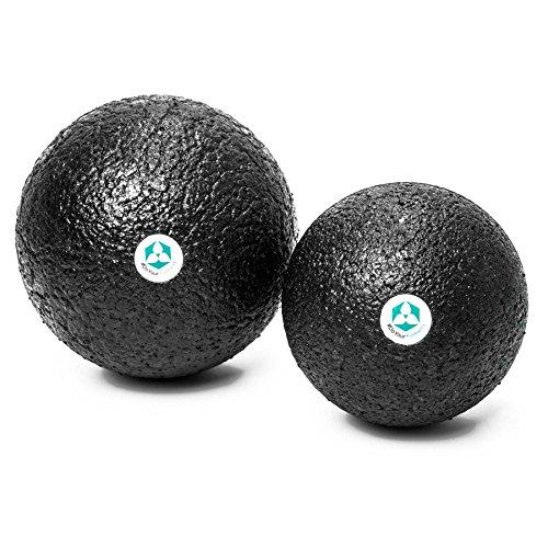 Preisvergleich Produktbild 2x Faszienbälle ( 8cm & 10cm Durchmesser ) »BlackCat« / idealer Massageball zum Faszientraining & zur Selbstmassage!