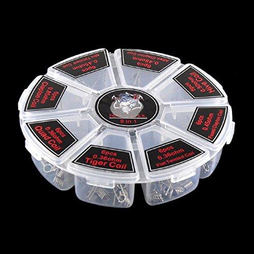 Preisvergleich Produktbild Demon Killer Vapor vorkompilierte Coils, verschiedene Designs 8 vorgefertigten Spulen, 48 PCS E Zigarette Heizung Drähte, für Heimwerker Zerstäuber RDA, RBA, RDTA