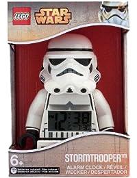 LEGO Unisex Wecker Digital White 9002137