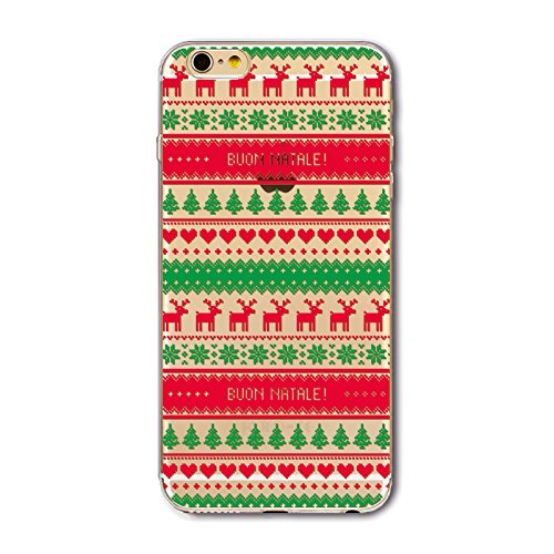 Christmas Hülle iPhone 7 / iPhone 8 LifeePro Weihnachts Cover Ultra dünn Weiches Transparent TPU Gel Silikon Handy Tasche Bumper Case Anti-Scratch Back Cover Full Body Schutzhülle für iPhone 7 / iPhon Stripe Pattern