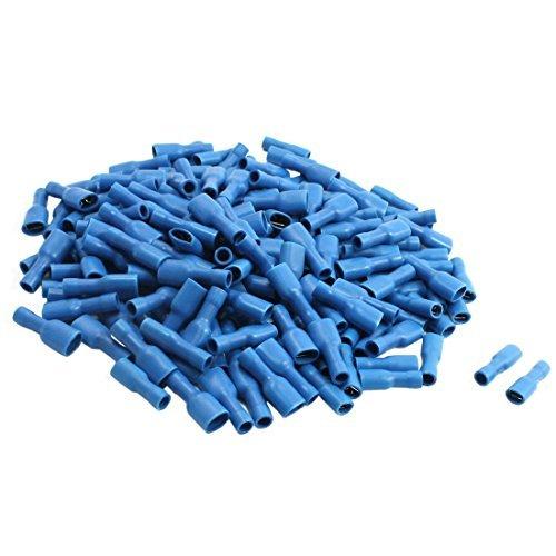 DealMux Kunststoff isoliert Weibliche Spaten-Crimp-Anschluss mit 200 Stück, 16-14 AWG, 15 Amp, Blau -