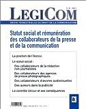 Telecharger Livres Legicom numero 26 Statut social et remuneration des collaborateurs de la presse et de la communication (PDF,EPUB,MOBI) gratuits en Francaise