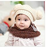 #10: Woollen bunny baby cap - Cream