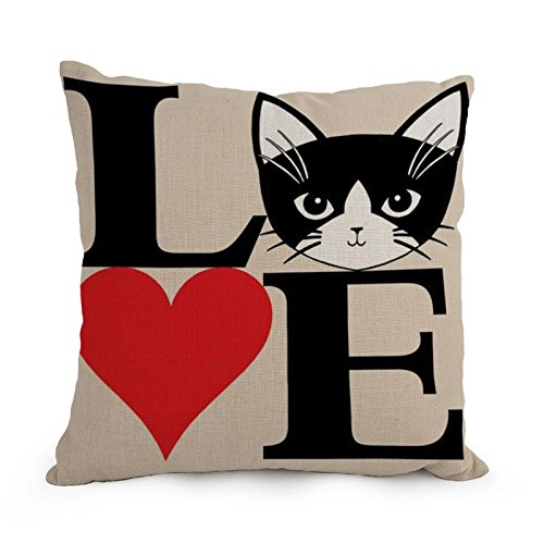 Uloveme Cat Throw Cushion Covers 12 X 20 Inches / 30 By 50 Cm Gift Or Decor For Kitchen,couch,husband,birthday,son,kids Girls - Twin Sides