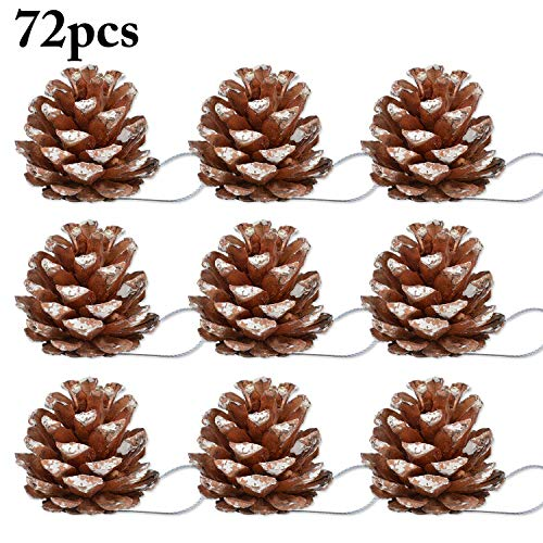 Outgeek 72pcs natale appeso ornamenti siano pigna albero di natale ornamenti bambini partito forniture