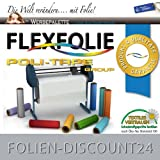 FLEXFOLIE BÜGELFOLIE 1 METER x 500mm PU POLI-FLEX PREMIUM GREY 412