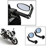 #9: Vheelocity Motorycle Bar End Mirror Rear View Mirror OvalFor Tvs Apache Rtr 160