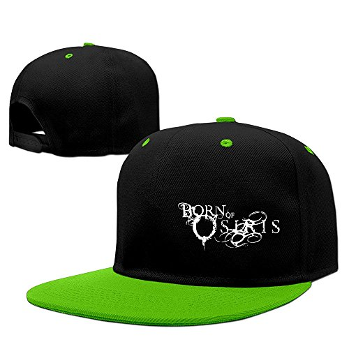 xcarmen Born of Osiris Soul Sphere Logo Fitted Hats Kelly Green