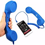 Joy Enterprise 2018 Anti-Radiation Retro Style Handset COCO Phone With HD Speaker And Microphone Works With All Android Or Smartphone Devices (Color May Vary)