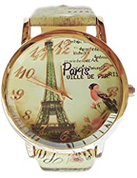 Watches for - Female Round Stainless Steel Analogue Cream Dial and Cream Band-Paris