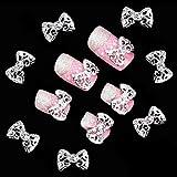 10stk. 3D Glitters Bowknot Nagelsticker Schleife Strass Nagel Art Sticker...