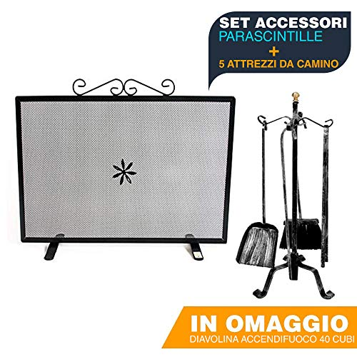 Set accessori camino caminetto - parascintille