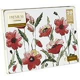 Creative Tops Acuarela Amapolas Premium manteles individuales de corcho, madera/MDF, multicolor, 6