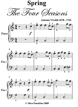 Spring Four Seasons Vivaldi Easiest Piano Sheet Music Ebook