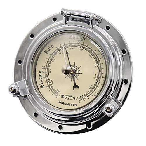 KESOTO Barometer + 10 x Schrauben Metallisches Navigationsinstrument für Auto Boot RV