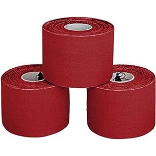 ALPIDEX 3 x Kinesiologie Tape 5 cm x 5 m in verschiedenen Farben, Farbe:rot