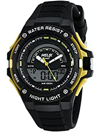 Helix Analog-Digital Black Dial Unisex Watch - TWESK0305