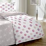 Enrico Coss Premium Seersucker Bettwäsche Punkte Pink 135x200 cm + 80x80 cm