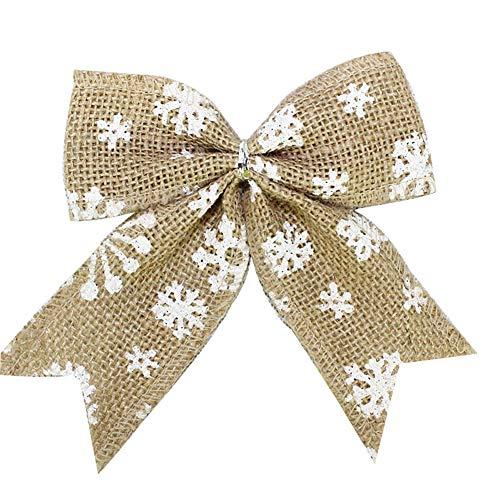 Xiton 1pc einfache rustikale Burlap Schneeflocken Bogen Knoten Bogen Krawatte für...