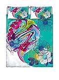 Parure Copripiumino Matrimoniale Kiosa 2 Posti, Multicolore (Ko608), 250 x 200 cm