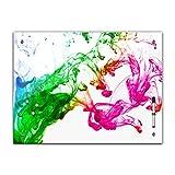 Bilderdepot24 Memoboard 60 x 40 cm, Textur - Textur Farbe - Memotafel Pinnwand - Element - Holz - Wasser - Grafik - Farbe - bunt - Wasserfarbe - grafisch - graphisch - Motiv - Texturmotiv - Handmade