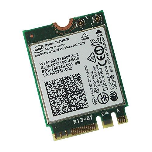 Intel Dual Band Wireless AC 72657265NGW 802.11ac 2x 2WiFi + Bluetooth 4.0867MBPS NGFF CARD SPS 756749-001OA