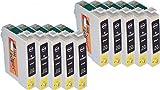 Start – 10 Ersatz Druckerpatronen kompatibel zu Epson T0711 Schwarz für Epson Stylus D120, D78, D92, DX4000, DX4050, DX4400, DX4450, DX5000, DX5050, DX5500, DX6000, DX6050, DX7000F, DX7400, DX7450, DX8400, DX8450, DX9200, DX9400F, Office B40W, BX300F, BX310FN, BX510W, BX600FW, BX610FW, S20, S21, SX100, SX105, SX110, SX115, SX200, SX205, SX210, SX215, SX218, SX400, SX400 WiFi, SX405, SX405 WiFi, SX410 ,SX415 ,SX417 ,SX510W ,SX515W ,SX600FW, SX610FW