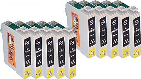 Start – 10 Ersatz Druckerpatronen kompatibel zu Epson T0711 Schwarz für Epson Stylus D120, D78, D92, DX4000, DX4050, DX4400, DX4450, DX5000, DX5050, DX5500, DX6000, DX6050, DX7000F, DX7400, DX7450, DX8400, DX8450, DX9200, DX9400F, Office B40W, BX300F, BX310FN, BX510W, BX600FW, BX610FW, S20, S21, SX100, SX105, SX110, SX115, SX200, SX205, SX210, SX215, SX218, SX400, SX400 WiFi, SX405, SX405 WiFi, SX410 ,SX415 ,SX417 ,SX510W ,SX515W ,SX600FW,