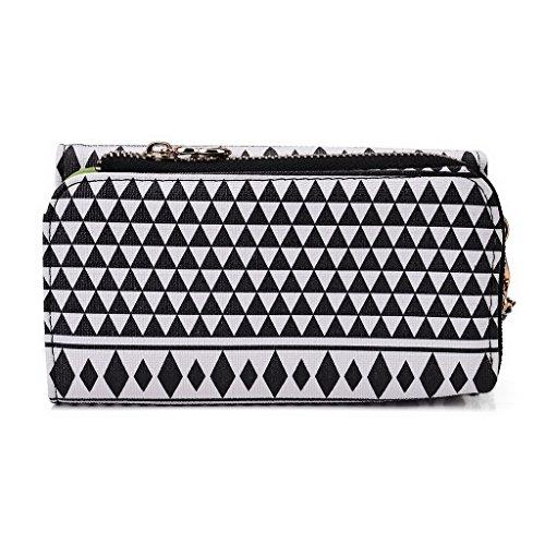 Kroo Pochette/étui style tribal urbain pour Lenovo A850 Multicolore - Noir/blanc Multicolore - Noir/blanc