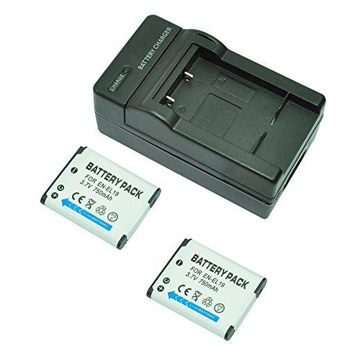 mondpalast-2x-reemplazo-bateria-en-el19-750mah-cargador-para-nikon-coolpix-s33-s100-s2500-s2550-s260