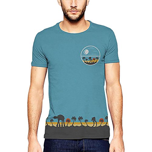 Star Wars Rogue One Tropical Scene T-Shirt Full Size Blau - ()