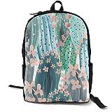 MGTXL Personality Knapsack Cactus Stylish School Backpack