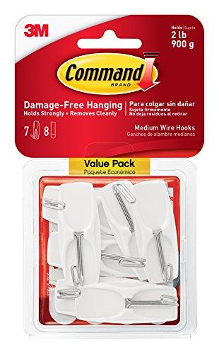 Command-17065 VPES a gancio in fil di ferro medio, confezione da 48 pezzi, colore: bianco
