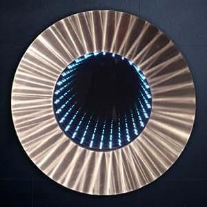 Mirrorstyl decm 164 miroir infini led design rond for Miroir infini