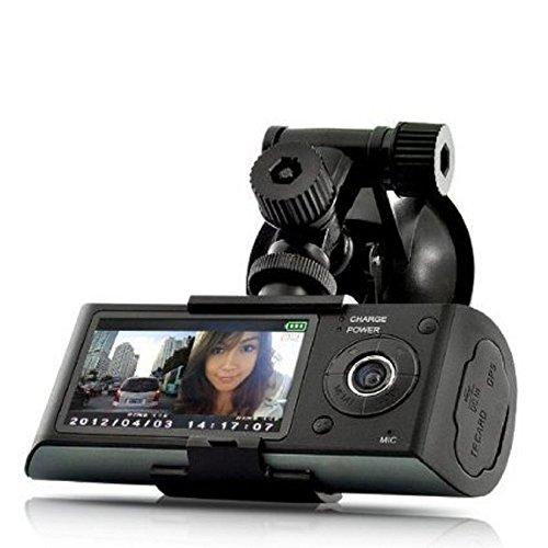 Auto Kamera DashCam Auto-Kamera, Stoga Ubox STV300 2,7 Zoll Bildschirm Dual Kamera 5MP Auto Blackbox DVR mit GPS-Datenlogger und G-Sensor Träger-Auto-DVR Dashcam Auto Kamera Auto DVR Car DVR Cam-Auto-DVR Auto DVR Kamera Auto Video Recorder-schwarz