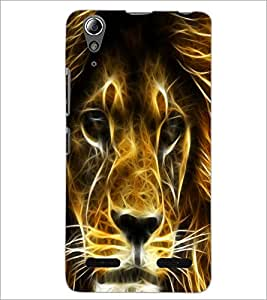 PrintDhaba Digital Lion D-2094 Back Case Cover for LENOVO A6000 PLUS (Multi-Coloured)