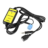 Qiilu Câble Aux Adaptateur USB Voiture Auto Lecteur Mp3 Audio Auxiliaire Interface...