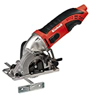 Einhell 4330994 TC-Cs 860/2 Kit Mini Circular Saw with Robust Blades and Tool Bag - Red