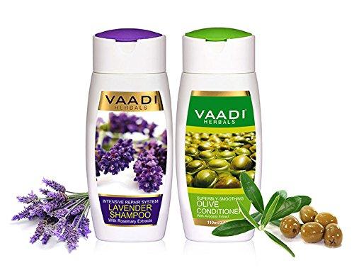 Intensive Hair-repair-therapie (Lavendel mit Rosmarin Extrakt Shampoo & Olive Klimaanlage - Intensive Repair Shampoo - ohne Parabene --Sulfat frei - Kopfhaut Therapie - Feuchtigkeit Therapie - Für alle Haar Typ - 2 x 110 ml)
