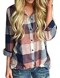 11dad682b45b33 camicetta donna_MEIbax Bluse Camicie Lunga Donna Taglie Forti Casual Manica  Lunga Camicia Camicetta Elegante Camicia Felpe Donna…