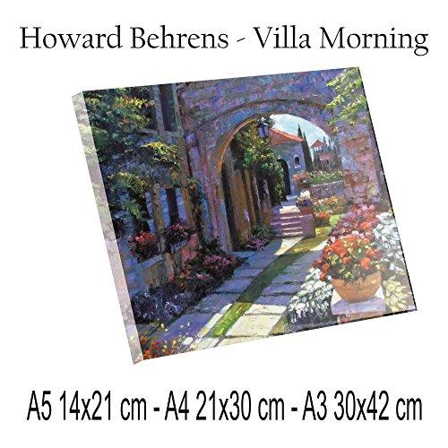 Social Crazy Druck Druck auf PLEXIGLAS ULTRAHD - Howard Behrens - Villa Morning - 100% Qualität in Italien Gemälde Gemälde Geschenkidee Küche Schlafzimmer Wohnzimmer A4 -