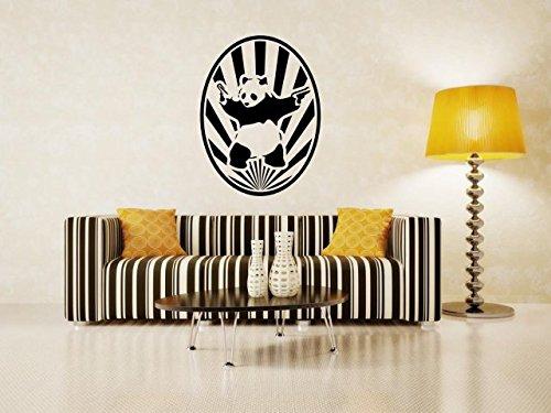 starburst-banksy-panda-avec-pistolets-moderne-sticker-mural-noir-large-60cm-x-80cm-24-x-32