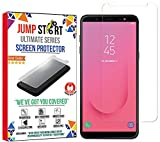 JUMP START Tempered Glass 3D Touch 0.2mm Screen Protector for Samsung galaxy J8 (Transparent)