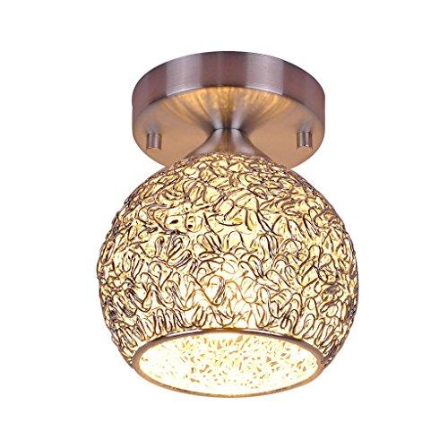 E27 3W LED Modern Einfach Deckenlampe Kreativität Persönlichkeit Deckenleuchte Silber Kugelform Aluminium Deckenleuchten für Treppen Flurlampe BalkonLicht 220V [Energieklasse A++] Ø15cm -