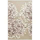 Vallila CM 000171-75 Sydänpuu 68 x 110 cm, alfombra, corazón, gris/blanco