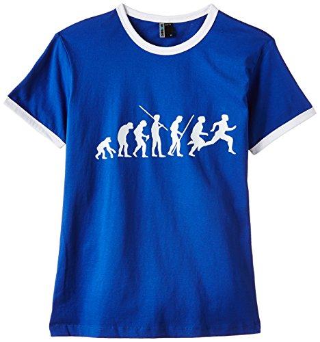 Coole-Fun-T-Shirts T-Shirt LAUFEN Joggen Evolution ! RINGER, blau, M, 10682_blau_RIGI_GR.M