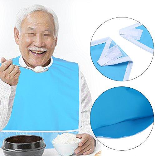 Erwachsenen Essen Bib Kleidung Schutz Disability Aid Schürze, Mealtime Bib Single Layer PVC Elder Dinning Kleidung Beschützer Gebot 50cmX80cm(Grün)