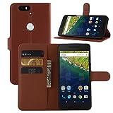 HL Brothers Schutzhülle für Nexus 6P Hülle, Premium PU